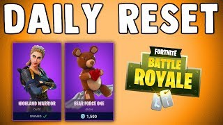 FORTNITE DAILY SKIN RESET - BEAR FORCE ONE - Fortnite Battle Royale New Items in Item Shop