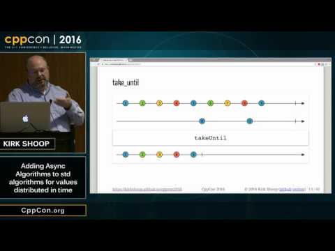 "CppCon 2016: Kirk Shoop ""Algorithm Design For Values Distributed In Time"""