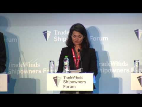 Business briefing at the TradeWinds Shipowners Forum at Posidonia 2016