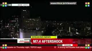 4/7/11: STRANGE PULSATING BLUE LIGHT SEEN DURING JAPAN 7.4 AFTERSHOCK