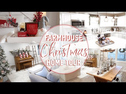 CHRISTMAS HOME TOUR 2019 | COZY FARMHOUSE STYLE CHRISTMAS DECOR | DIY CHRISTMAS HOME DECOR