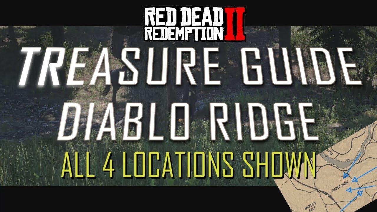 RDR2 ONLINE - ALL 4 DIABLO RIDGE TREASURE LOCATIONS ON RED DEAD
