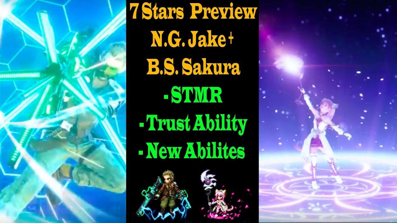 Ff Be 7 Stars Nameless Gunner Jake And Blossom Sage Sakura Preview