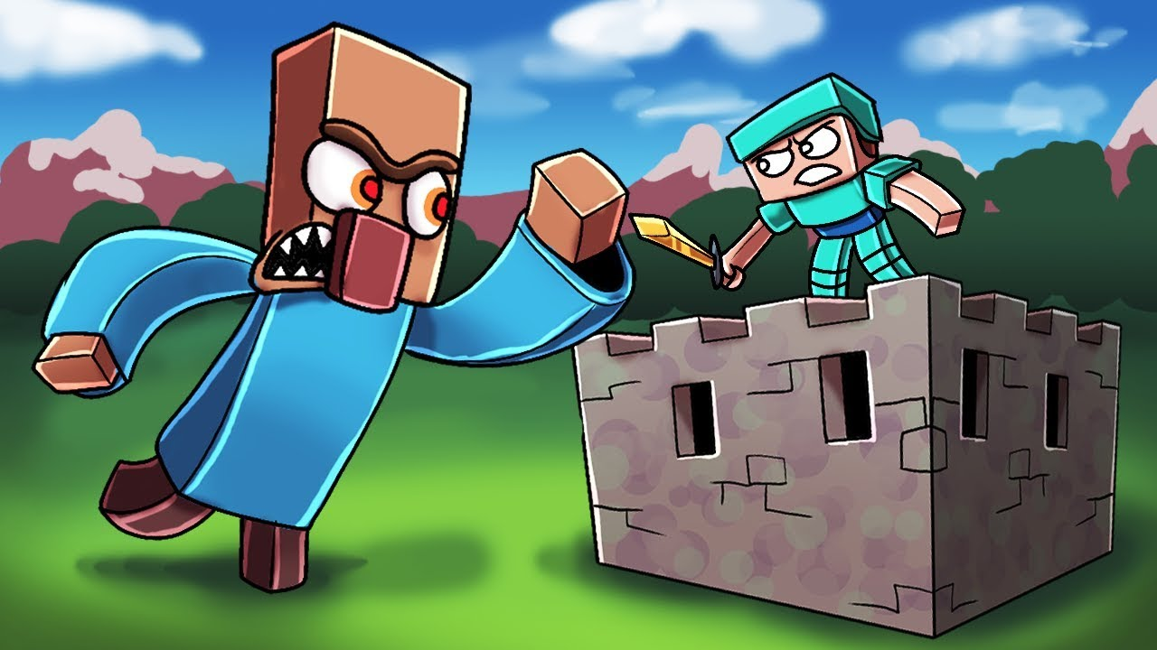 Minecraft | GIANT MUTANT VILLAGER BASE CHALLENGE! (Base vs Villager.EXE)