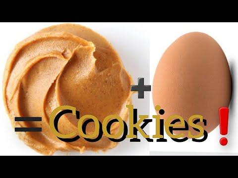recette-de-cookies-au-beurre-de-cacahuètes-et-sans-farine-/-recette-facile-et-rapide