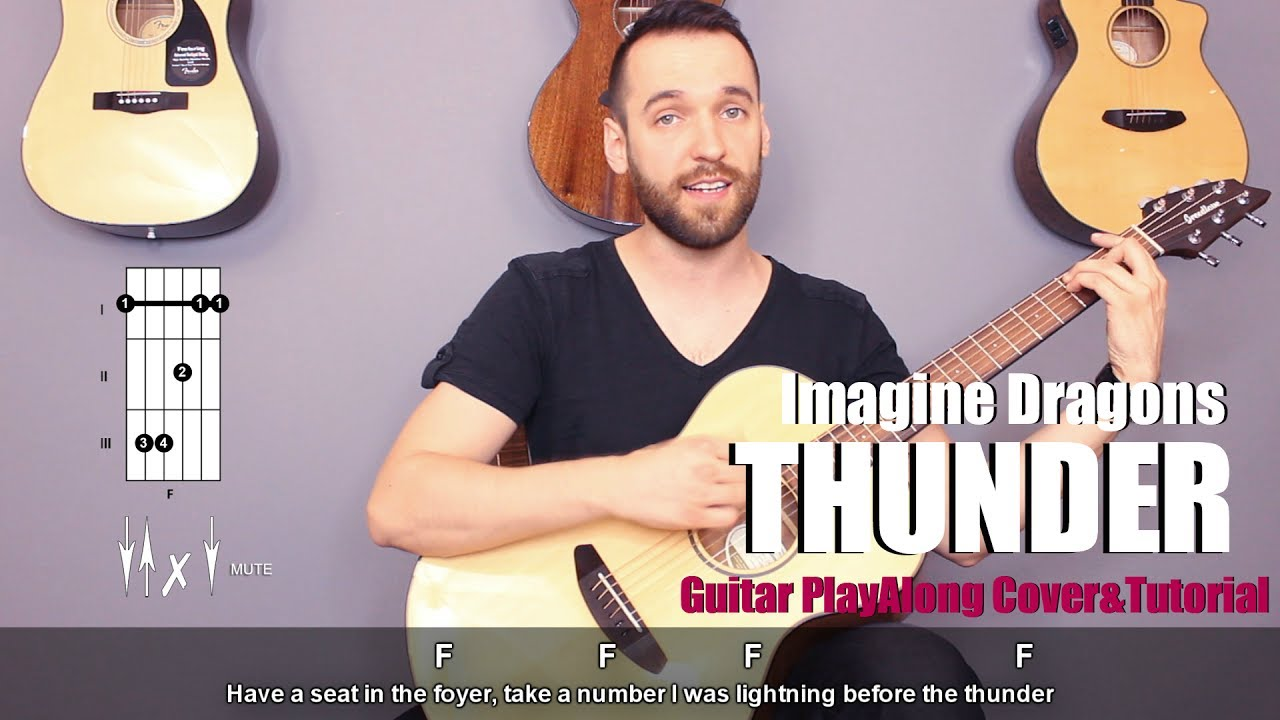 lighting cords. imagine dragons - thunder (guitar cover with lyrics and chords) lighting cords