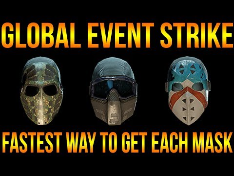 FASTEST WAY TO GET GLOBAL EVENT STRIKE MASKS | THE DIVISION