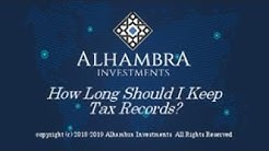 How Long Should I Keep Tax Records