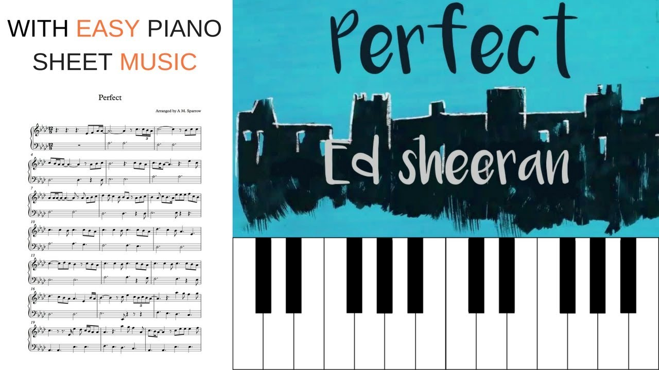 PERFECT BY ED SHEERAN | PIANO TUTORIAL with EASY sheet music