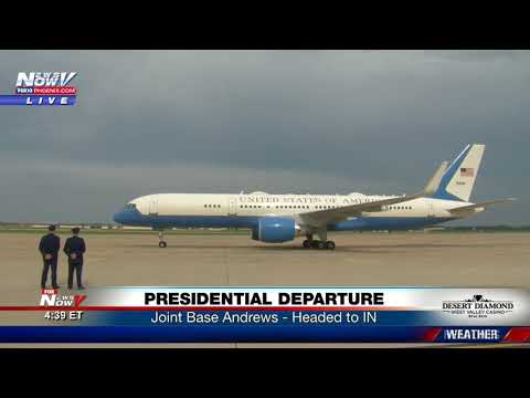 PRESIDENTIAL DEPARTURE: President Trump Heads To Campaign Rally In Indiana (FNN)