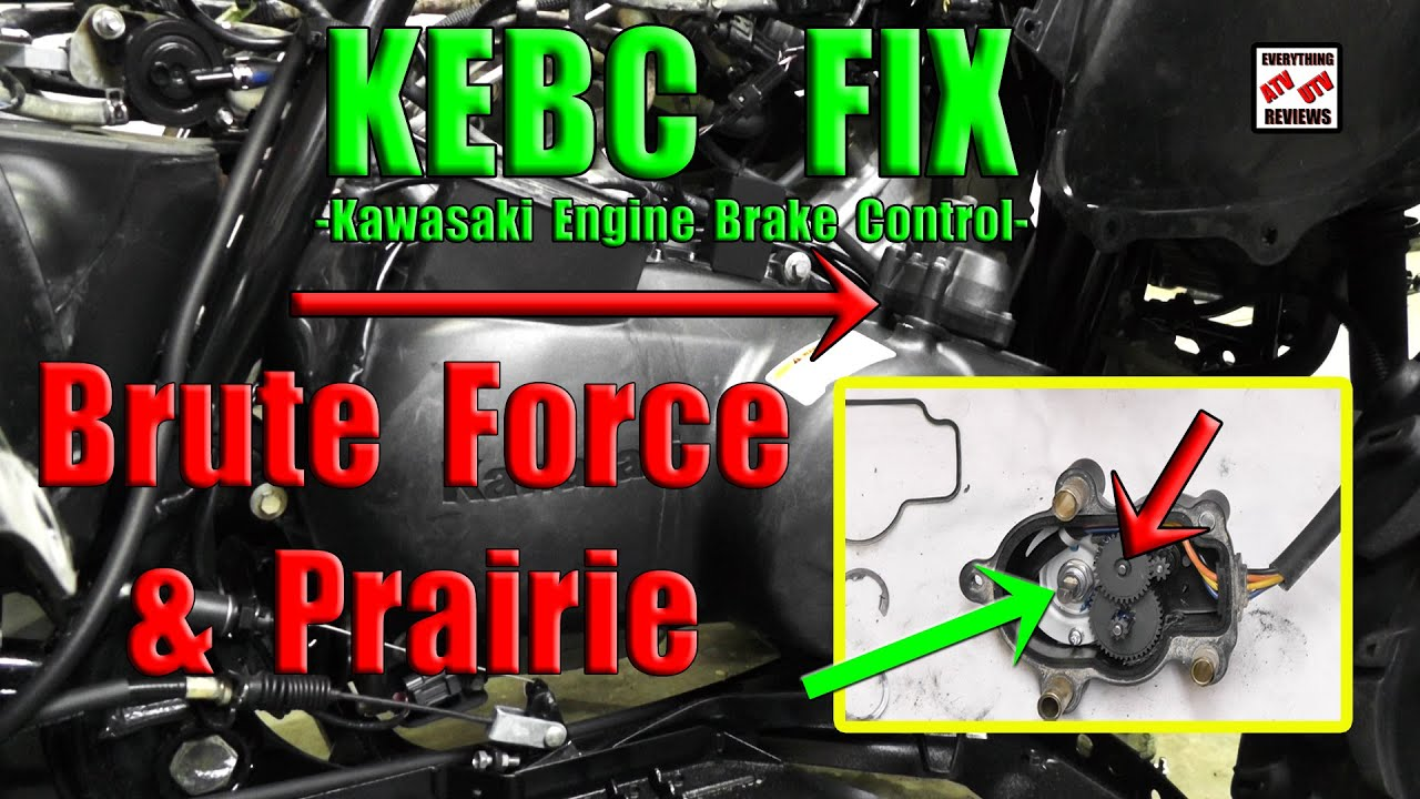 Kawasaki Brute Force 750 4x4 Wiring Diagram Solenoid Switch How To Clean, Lube And Fix Loud Kebc Actuator Or Actuator: Prairie - Youtube