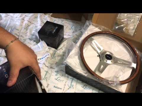 Unboxing fail   NRG detachble steering wheel