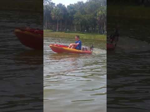 Kayak motor - stick steering - trolling motor kayak mount 0-5mph in 60  seconds!
