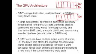 Video 81: GPU Hardware Introduction, CS/ECE 3810 Computer Organization