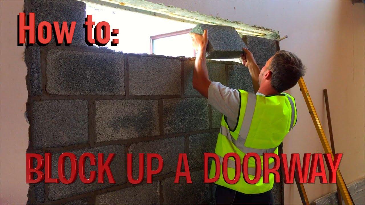 How To Block Up A Doorway Youtube
