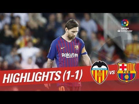 Highlights Valencia CF vs FC Barcelona (1-1)