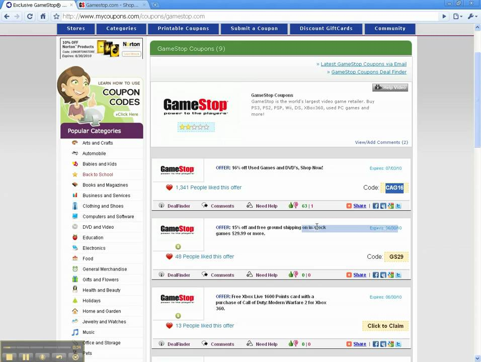 How To Use <b>GameStop</b> Coupon <b>Codes</b> - YouTube