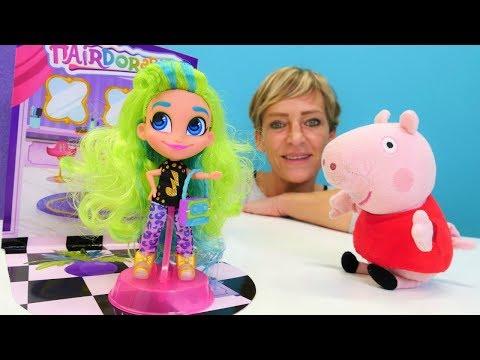 Spielspaß mit Nicole - Peppas neue Hairdorables Puppe - Spielzeugvideo
