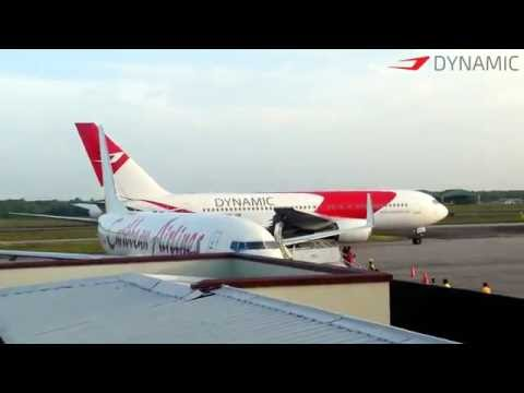 Dynamic Airways B767-200 Take Off from Guyana 1080p [HD]