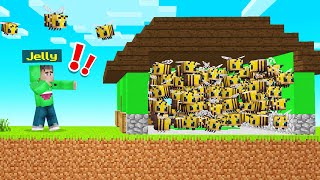 TROLLING JELLY WITH BEES In Minecraft! (Bee Town)