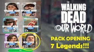 The Walking Dead Our World - SEVEN LEGENDS PACK OPENING