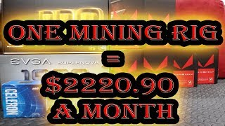 One Mining Rig = $2220 A Month! - RX Vega 56