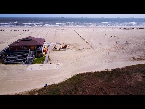 Galveston TX - Apffel East Beach Park - Mavic - 4K