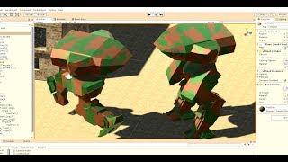 201.07 Уроки в Unity. Управление верхней и нижней частью робота