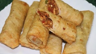 Chicken Potato Spring Rolls | Crispy and Tasty Recipe.