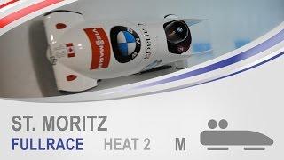 St. Moritz | 2-Man Bobsleigh Heat 2 World Cup Tour 2014/2015 | FIBT Official