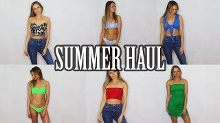 HUGE SUMMER 2018 TRY ON HAUL! (Triangl swimwear, Topshop + More!)