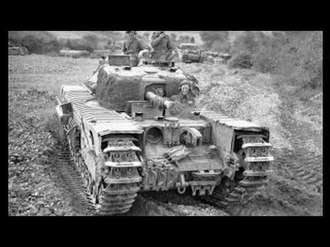 Танк Черчилль на полях сражений в красной армиии.