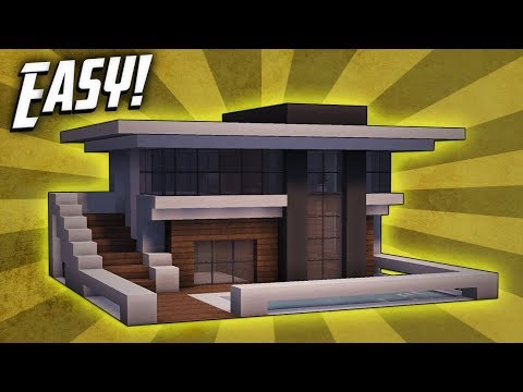 Minecraft How To Build Small Modern House Tutorial