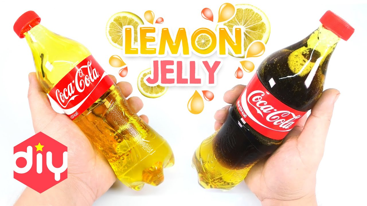 DIY Real Coca Cola Bottle Jelly ! Lemon Coca Cola Gummy | MonsterKids