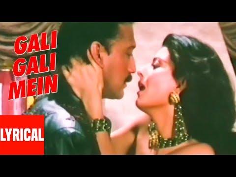 Gali Gali Mein Lyrical   Tridev  Alka Yagnik  Jackie Shroff, Sangita Bijlani