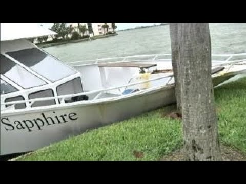 Irma drives yacht into bridge near St. Pete Beach