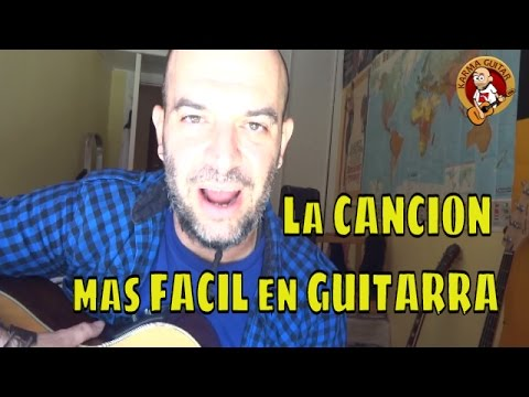 La CANCION mas FACIL en GUITARRA Tutorial Principiantes