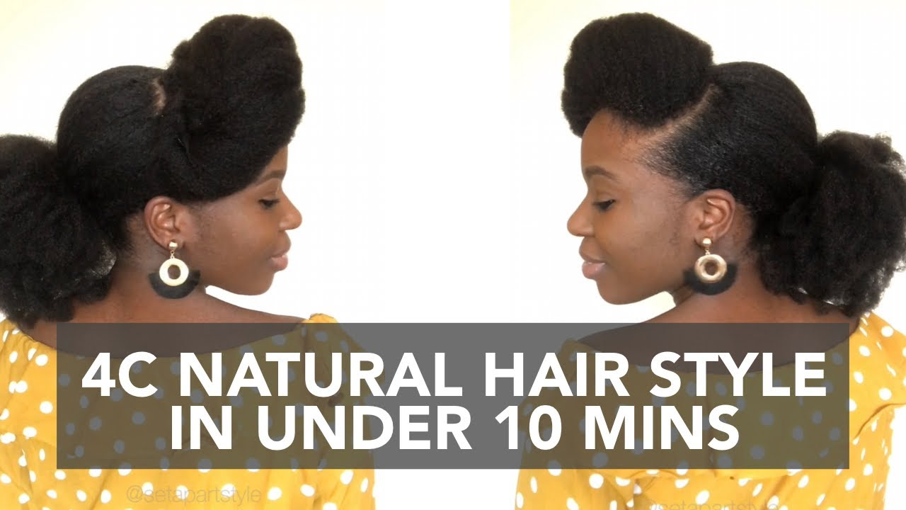 WEDDING GUEST HAIRSTYLE | 4C Natural Hair - YouTube