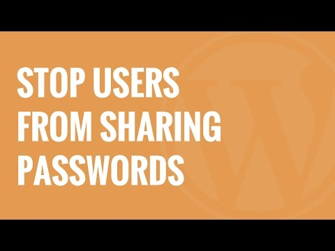 How to Stop Users From Sharing Passwords in WordPress - 동영상
