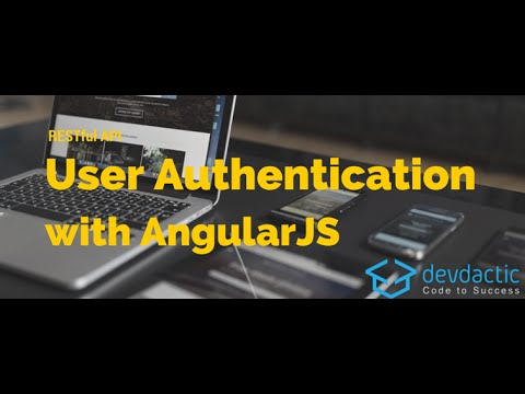 restful api user authentication with angularjs youtube