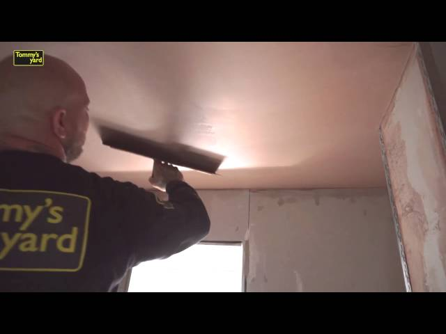 How to plaster a ceiling and wall Part 4