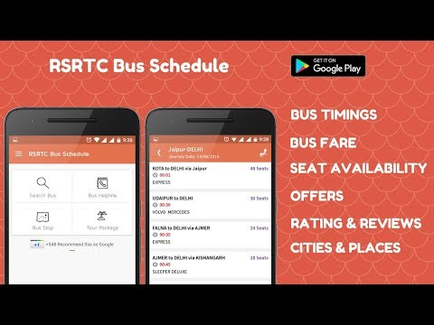 RSRTC Bus Schedule, Bus Ticket, Time Table - Apps on Google Play