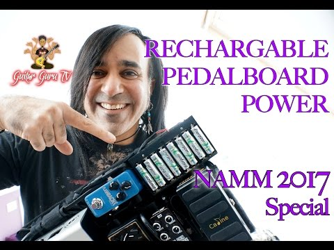 NAMM 2017 SPECIAL!!! Build a Rechargable Pedalboard Power Supply for just £35 ($45)! Guitar Guru TV