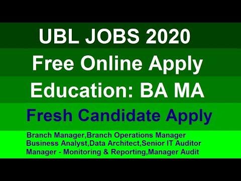 UBL Jobs 2020 Online Apply All Pakistan || Sayjobcity