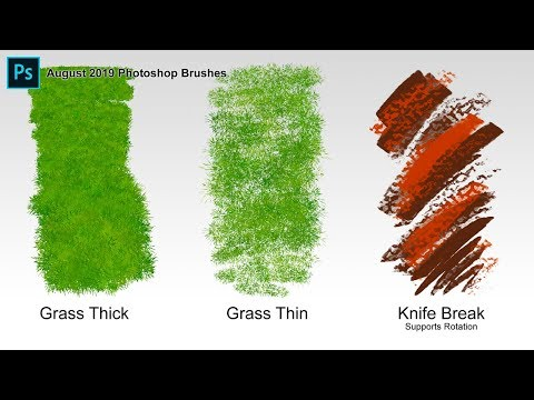 Grass Brushes - Custom Brushes For Photoshop & Adobe Fresco (August 2019)