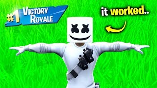 Marshmello's Impossible Challenge.. (Fortnite)