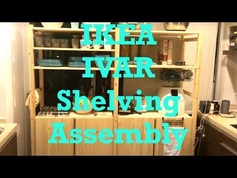 DIY IKEA IVAR Model Kitchen Hutch Shelving Assembly