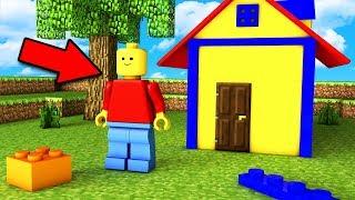 Я ПРЕВРАТИЛСЯ В ЖИТЕЛЯ ЛЕГО СИТИ В МАЙНКРАФТ ТРОЛЛИНГ Minecraft Мультик для детей