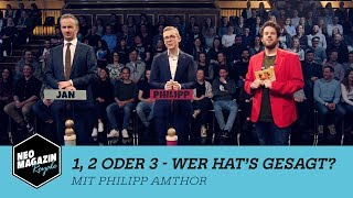 1, 2 oder 3 - Wer hat's gesagt? mit Philipp Amthor   NEO MAGAZIN ROYALE mit Jan Böhmermann - ZDFneo