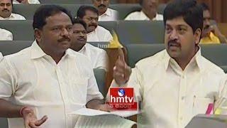 YCP MLA Mutyala Naidu Vs TDP MLA Kollu Ravindra over BC Welfare Schemes | AP Assembly | HMTV